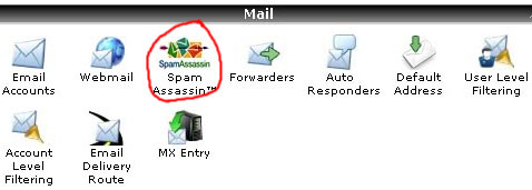 spam assassin pada cpanel